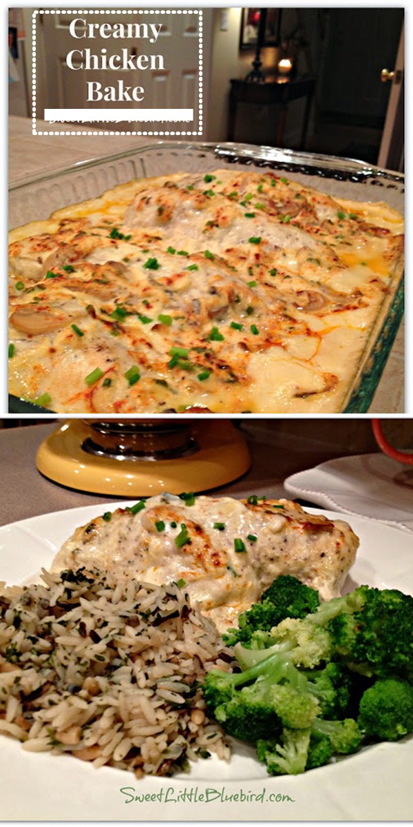 CREAMY CHICKEN BAKE #chickenrecipes