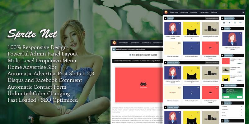 Sprite Net Responsive Blogger Template