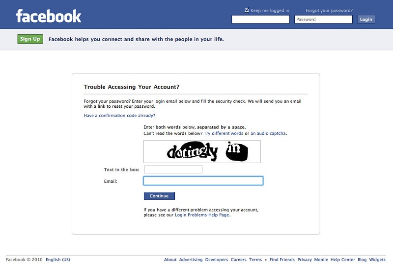 Reset Facebook Account without Losing Friends