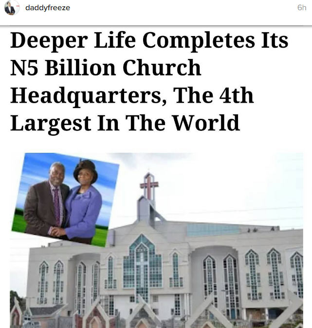 Korea produced mega car maker Hyundai, Nigeria produced Deeper Life Church - Freeze