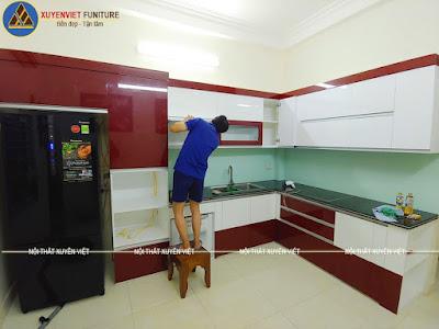 Tủ bếp đẹp hiện đại nhà Mai - Hải phòng đã hoàn thiện