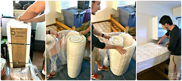 Moving in & setting up the Dorel Signature Sleep Gold Twin mattress was a cinch! You simply remove it from the box, cut off the outer plastic bag, roll it out onto a flat surface, cut off the inner plastic cover, & then watch the magic happen.