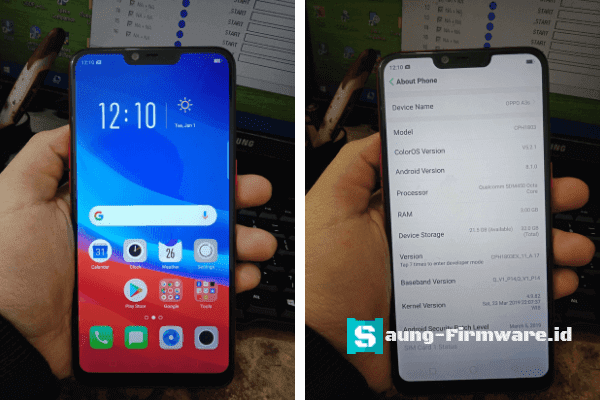 tool+firmware oppo a3s cph1803