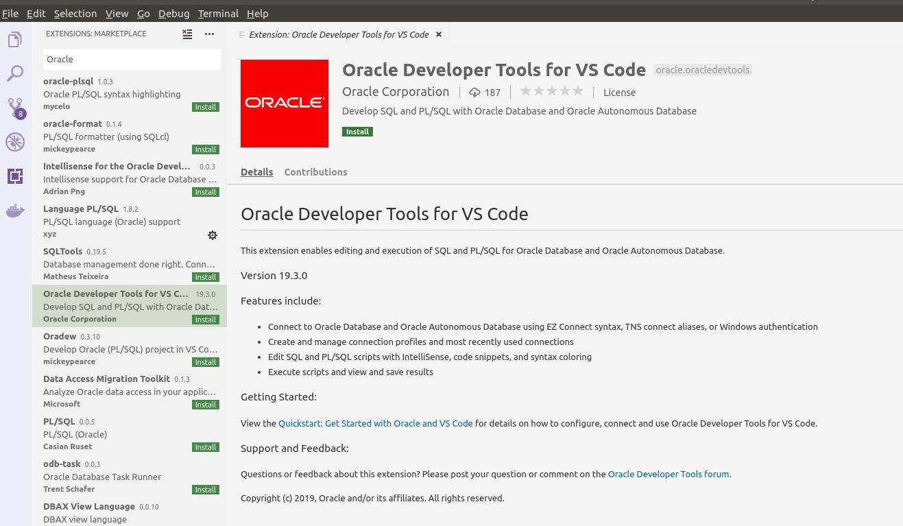 Oracle Developer Tools for Visual Studio Code ~ Dirk Nachbar