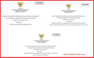 Peraturan Menteri PANRB tentang Pengadaan ASN Tahun 2021
