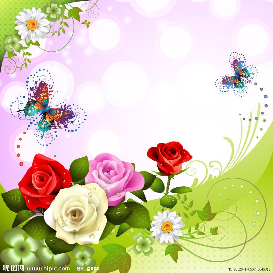 4d2bdc35701d7 Floral Background FloralBackgrounds FreeToEdit · Fondos Flower  Fondos De Rosas  Y Mariposas En Vectores