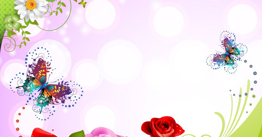Fondo Primavera álbum Classic Flores Violetas: Fondos De Mariposas