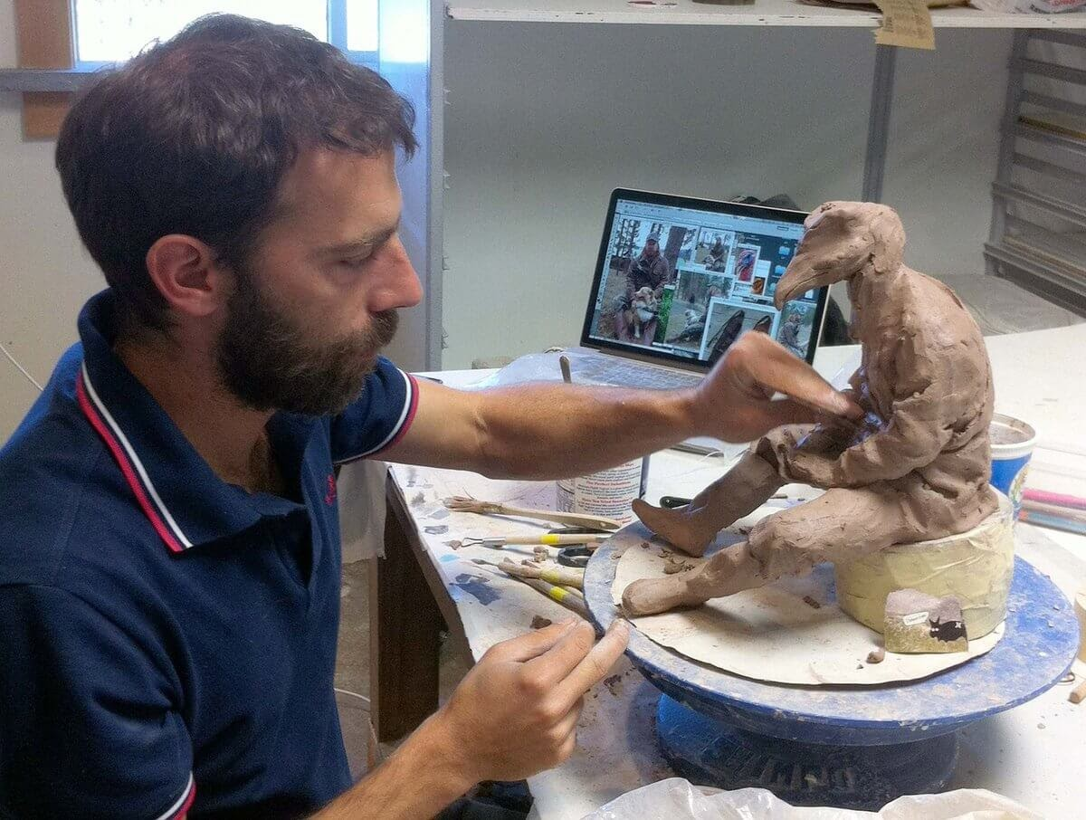 04-Creating-the-Sculpture-Alessandro-Gallo-Clay-Sculptures-of-Human-Animal-Hybrids-www-designstack-co