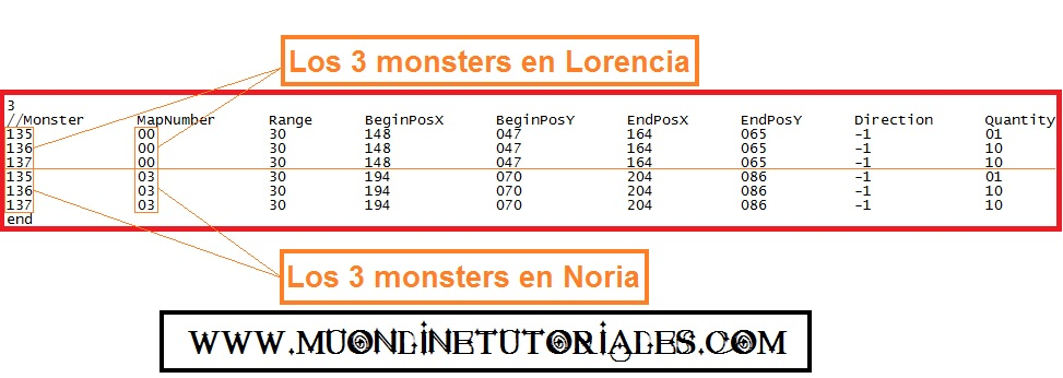 Visualizando el monstersetbase