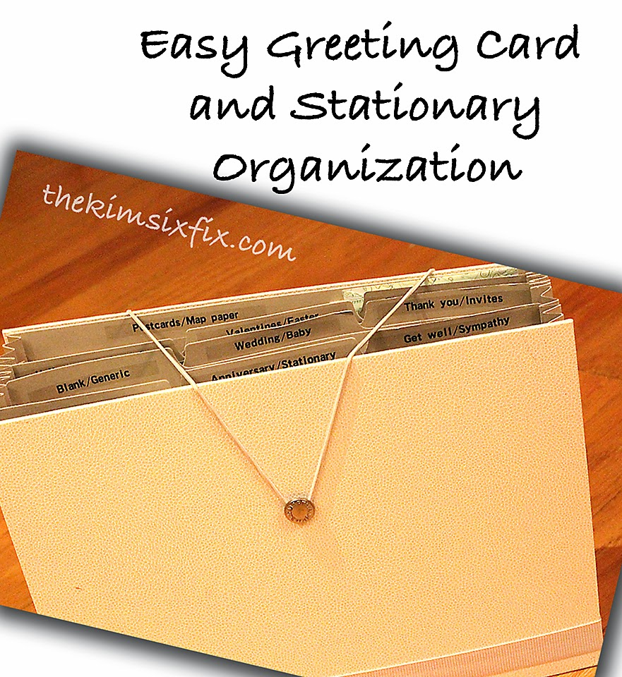 Organizing Greeting Cards And Stationary