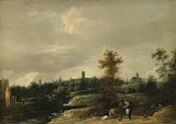View of the Environs of Brussels by David Teniers II - Landscape Paintings from Hermitage Museum