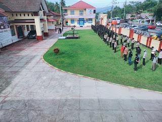 Polres Luwu Utara Laksanakan apel Kesiapan Pengamanan rapat pleno terbuka rekapitulasi dan Penghitungan Suara