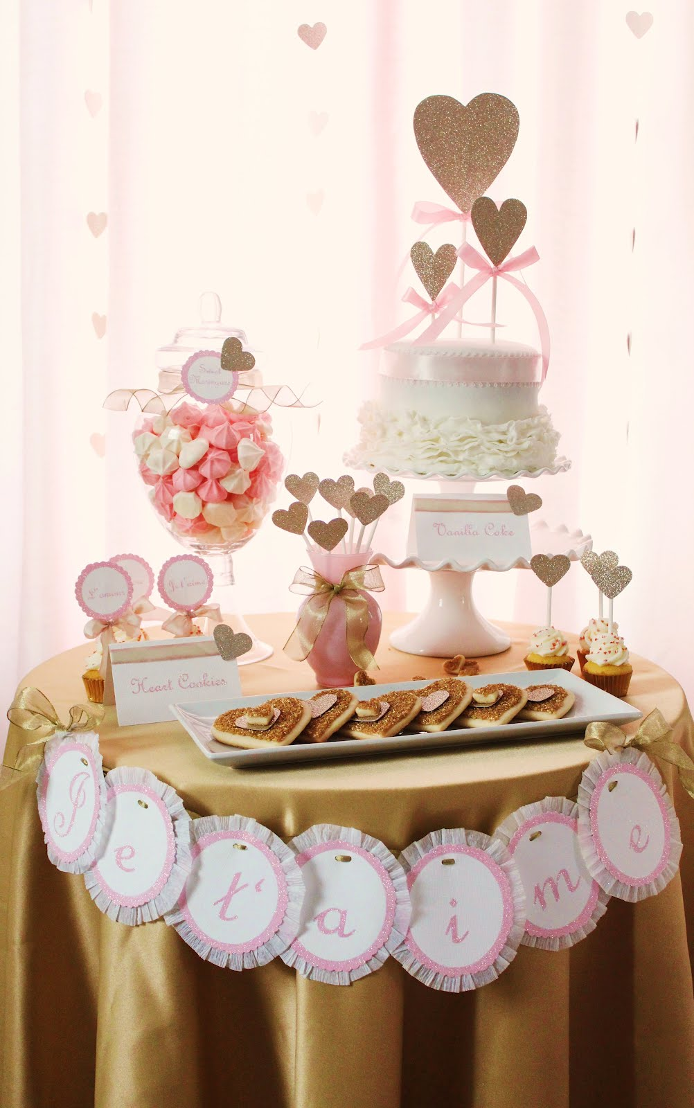 Pink And Gold Bathroom Decor: Icing Designs: Pink And Gold Valentine's Day Inspired Table