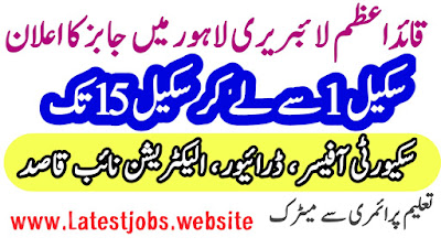 Quaid E Azam Library Lahore Jobs