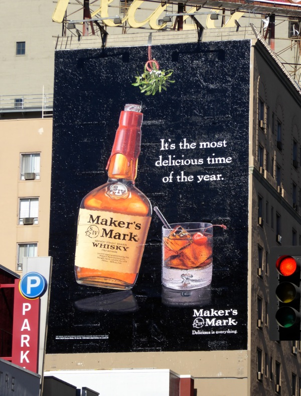 Makers Mark most delicious time of year billboard