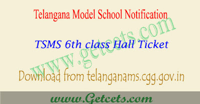 TSMS hall tickets download 2018,TSMS 6th class hall tickets 2018