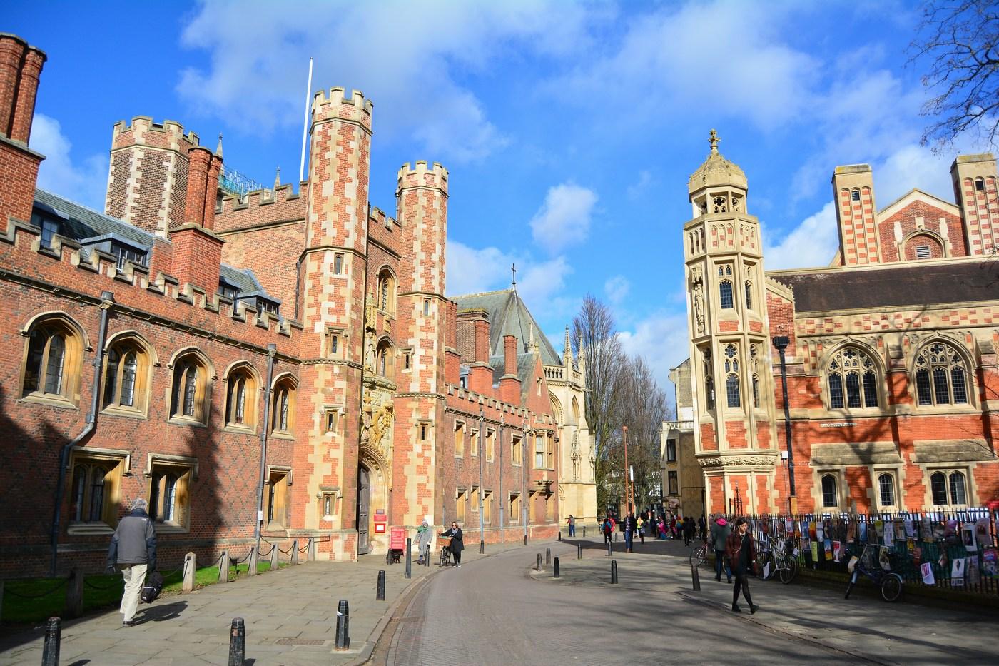 Entrée monumentale du St John's College.