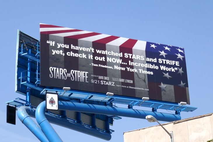 Stars and Strife documentary Starz billboard