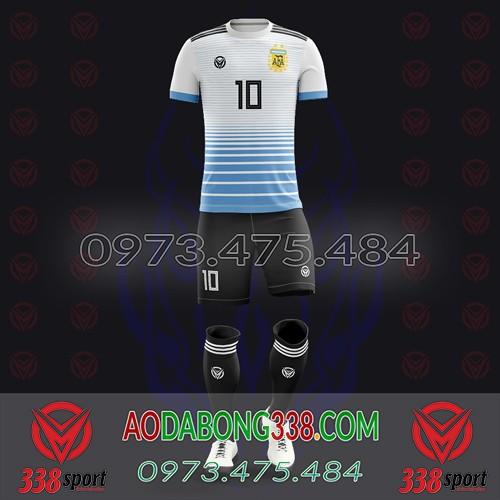 May Áo Đá Bóng Theo Yêu Cầu Mã Argentina-05