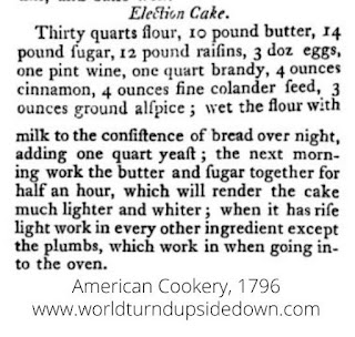 Colonial Recipe Election Cake