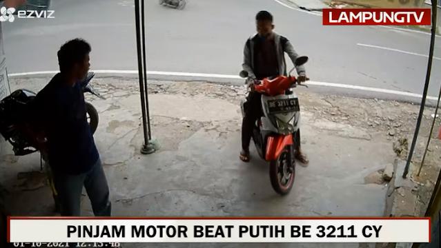 Modus Pinjam, Oknum Polisi di Lampung Bawa Kabur Motor Pemilik Usaha Fotokopi