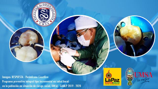 Programa de prevención bucal salud integral Gobierno municipal de La PAz y la Universidad Mayor de San Andrés