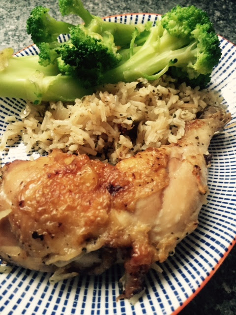 The Man Made Food.........{Greek Style Lemon Chicken & Rice}