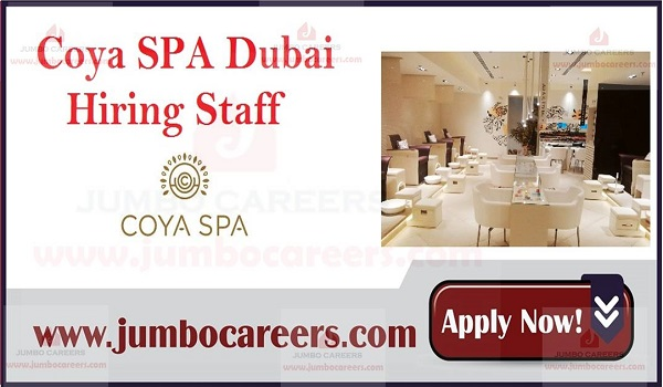 Available spa jobs in Dubai, Current Dubai job vacancies,