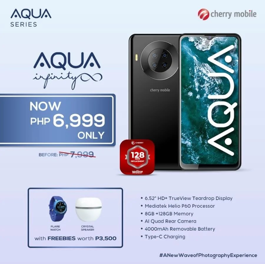 PRICE DROP ALERT: Cherry Mobile Aqua S9 Infinity Now Only Php6,999 Plus Freebies worth Php3,500