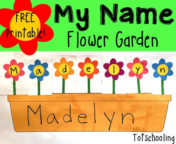 name recognition flower garden | totschooling - toddler, preschool