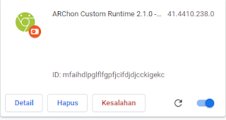 ekstensi ARChon Custom Runtime