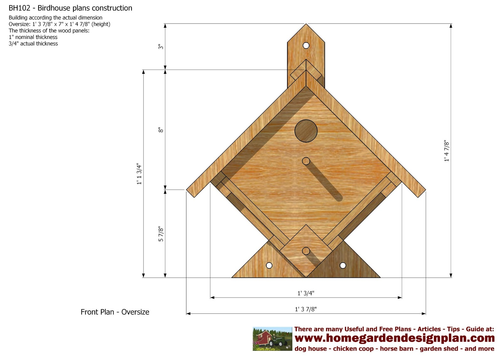 Mina bh102 bird house plans construction bird house for Plans to build a house