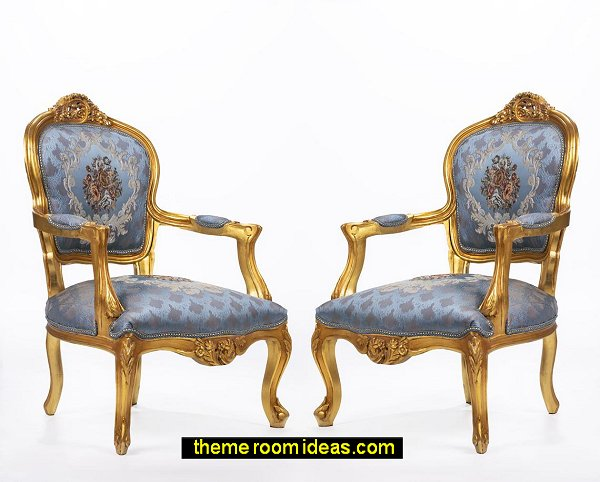 french furniture Rococo furniture vintage furniture Tufted  chairs
