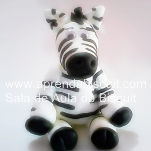 Zebra em massa de biscuit