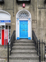 Blue door in Dundalk Ireland