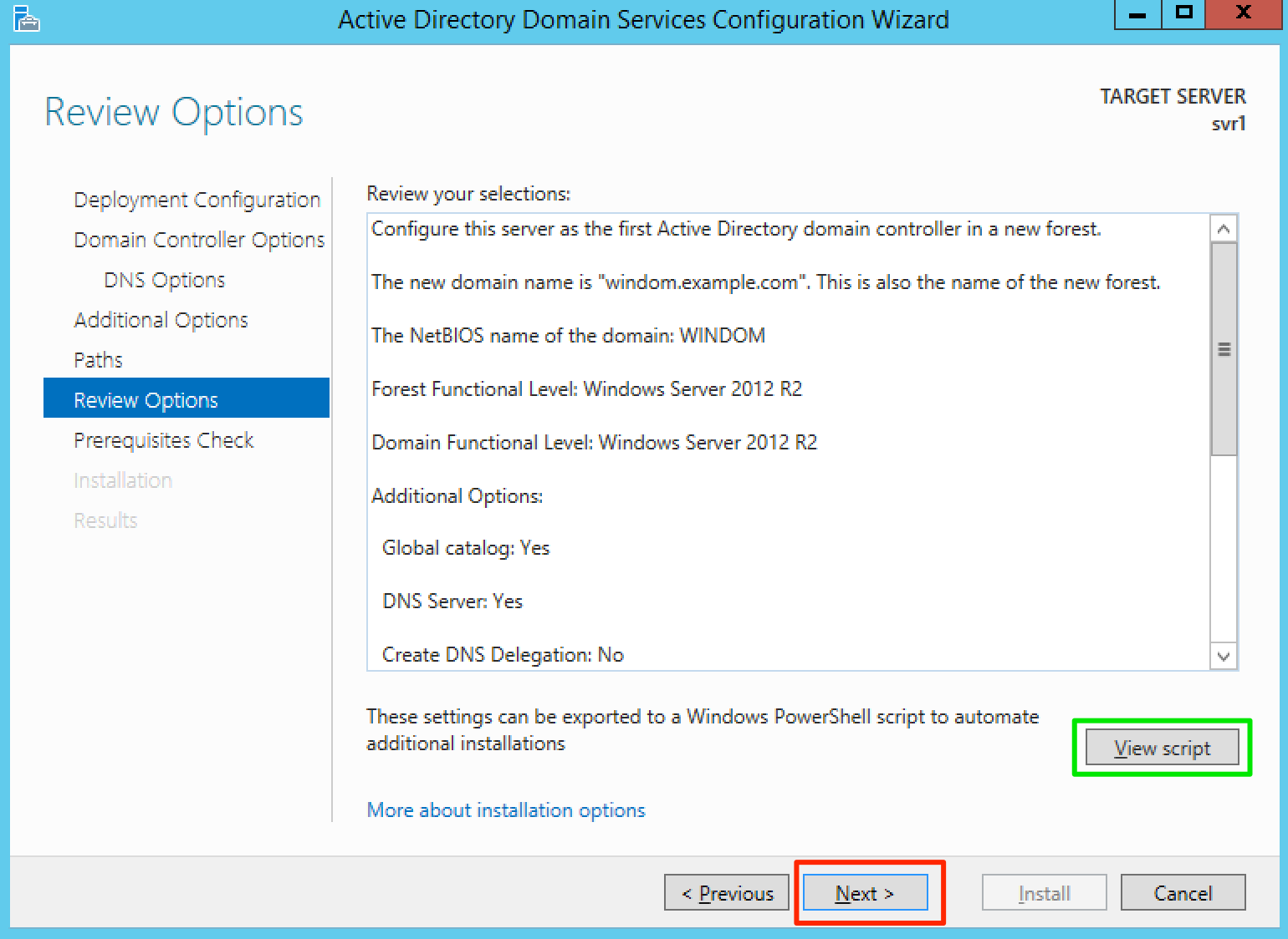 Setting up an Active Directory domain for evaluating the