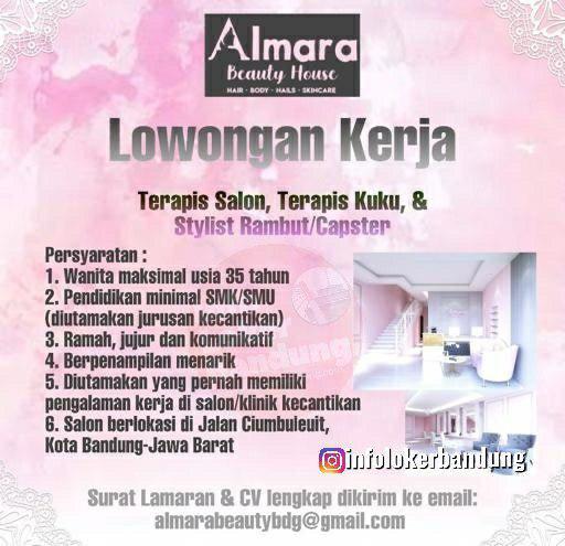 Lowongan Kerja Almara Beauty House Bandung Oktober 2019