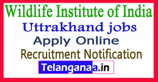 Wildlife Institute of India WII Recruitment Notification 2017 Apply