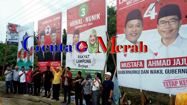 KPUD Lamteng Serahkan APK Kepada LO Cagub-Cawagub Lampung