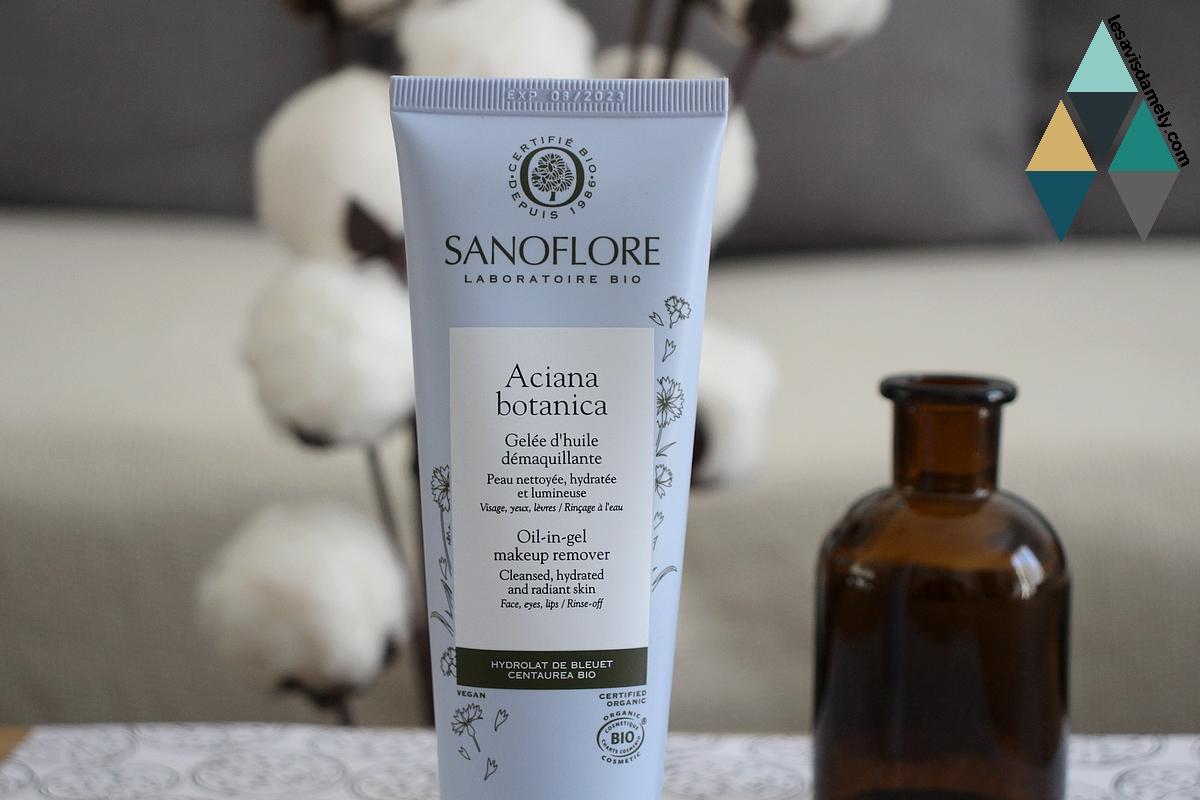 revue gelée d'huile démaquillante aciana botanica sanoflore