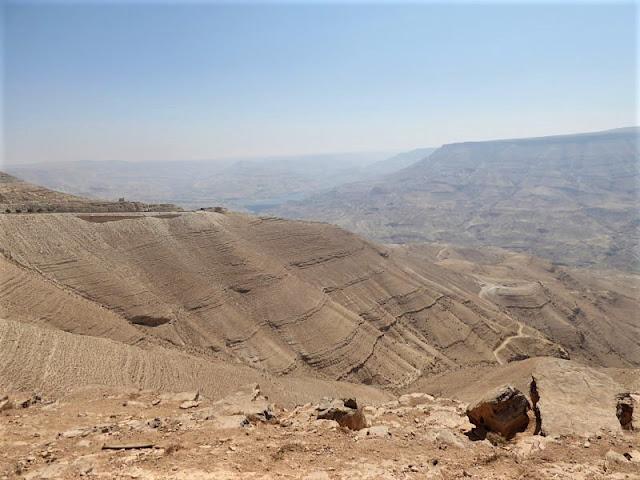 panorama sul canyon del wadi mujib
