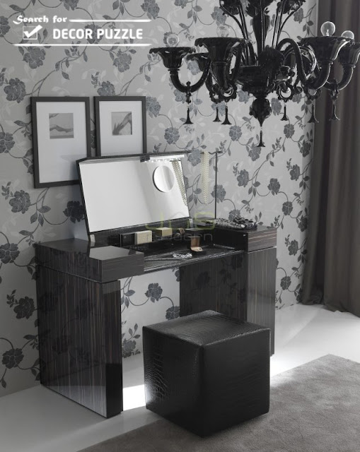 small black dressing table ideas