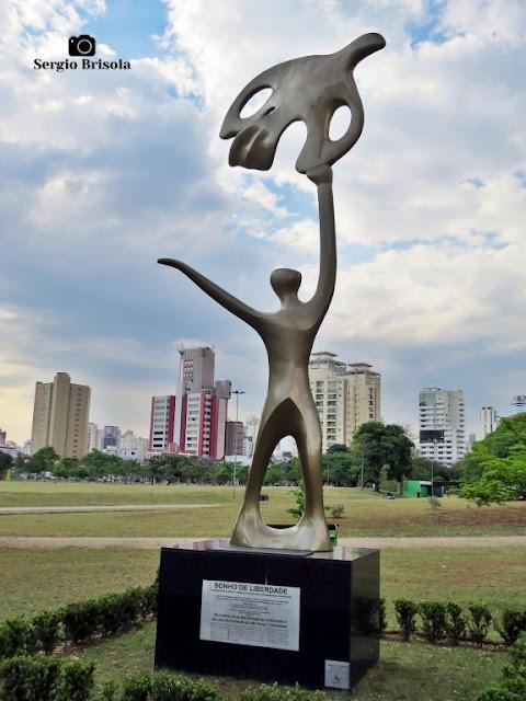 Close-up da Escultura Um Sonho de Liberdade - Santana/Carandiru - São Paulo