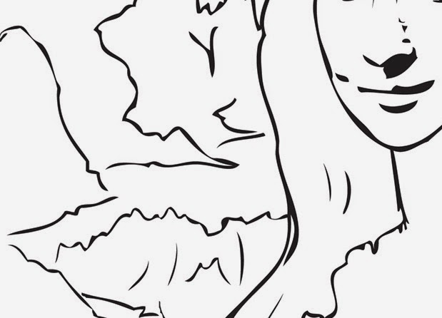 Cartoon Mona Lisa Coloring Pages