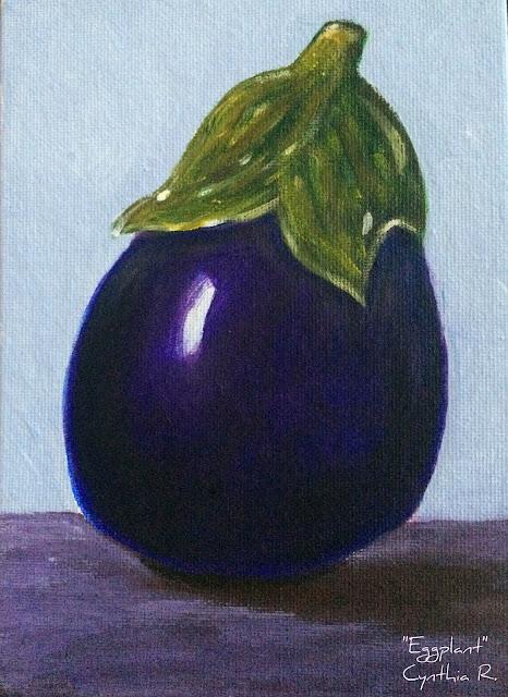 eggplant, berenjena, pintura acrílica, pintura acrílica en canvas, acrylic painting,