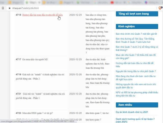 Hướng dẫn uptop bài viết Blogger