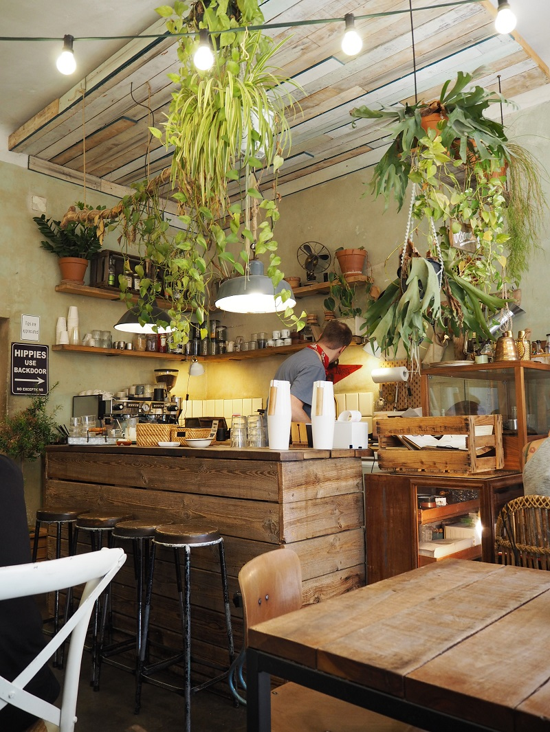 Rustic decor and plants at Roamers Berlin