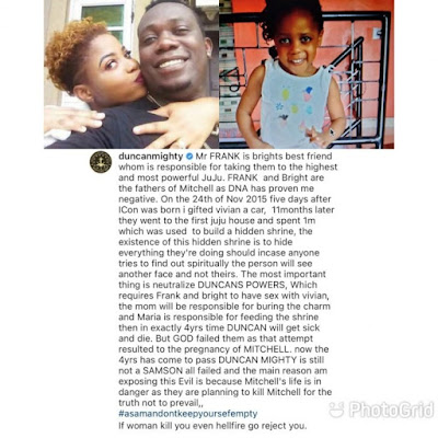 LET'S TALK!! If You Were Duncan Mighty, What Would You Do Immediately You Found Out Your 4-Year-Old Daughter Is Not Yours?