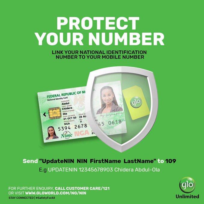 Link NIN to Glo SIM Card
