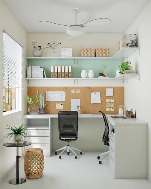 Oficina en casa en L